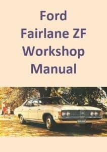 Ford Fairlane ZF Workshop Manual